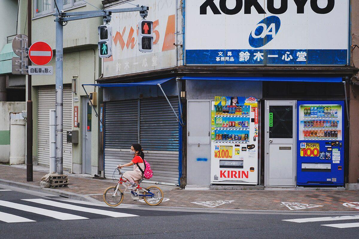 Mit dem Fahrrad durch Japans Städte