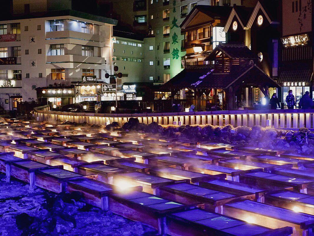 Kusatsu Onsen: ein Tag und ein Abend in 360 Grad