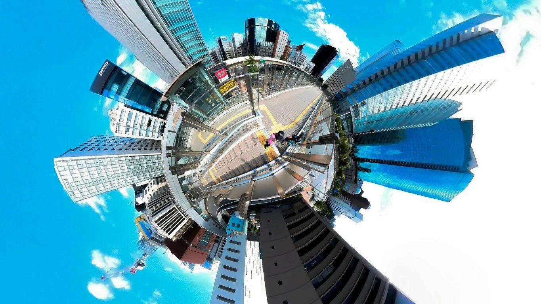 Auf den Straßen von Tokyo in 360 Grad