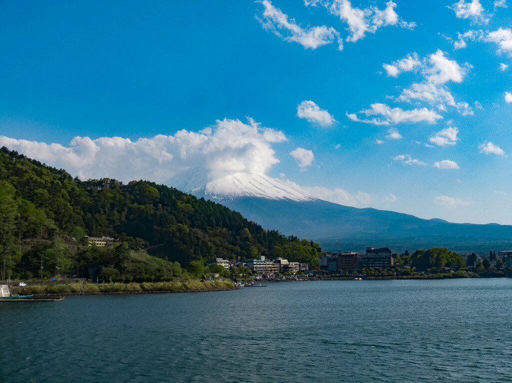Drohne Japan Kawaguchiko Fuji